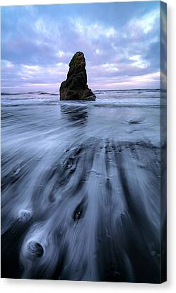 Canvas Print featuring the photograph Tidal Dance II by Mike Lang