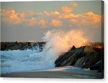 Tidal Energy - Cape Cod Bay Canvas Print by Dianne Cowen