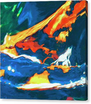 Canvas Print featuring the painting Tidal Forces by Dominic Piperata