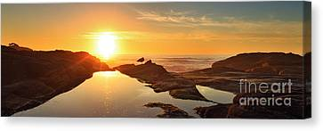Tidal Pools Canvas Print by Beve Brown-Clark Photography