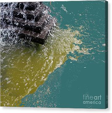 Canvas Print featuring the photograph Tidal Stand Off by Bill Thomson