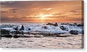 Tidal Sunset Canvas Print by Heather Applegate