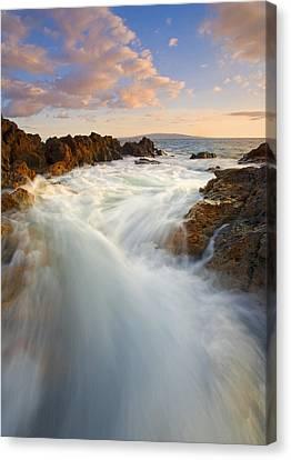 Tidal Surge Canvas Print by Mike  Dawson