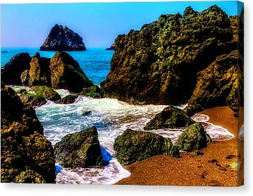 Sonoma Coast Canvas Print - Tide Coming In  by Garry Gay