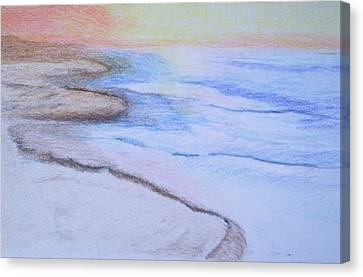 Tide Is Out Canvas Print by Suzanne Udell Levinger