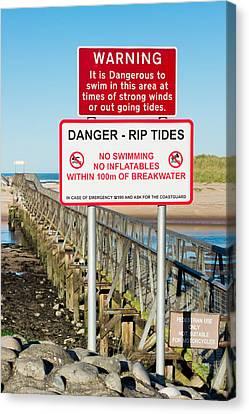 Tide Warning Canvas Print by Tom Gowanlock