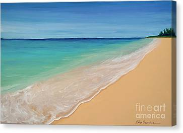 Tide Washing In Canvas Print