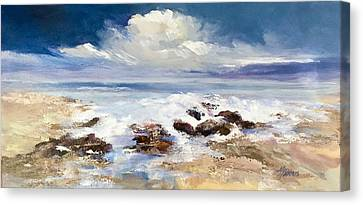 Canvas Print featuring the painting Tidepool by Helen Harris