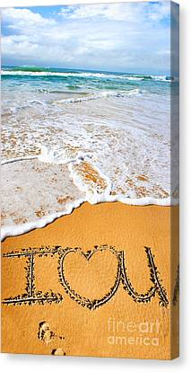 Tides Of Romance Canvas Print by Jorgo Photography - Wall Art Gallery