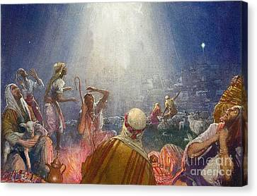 Tidings Of Great Joy Canvas Print by John Millar Watt