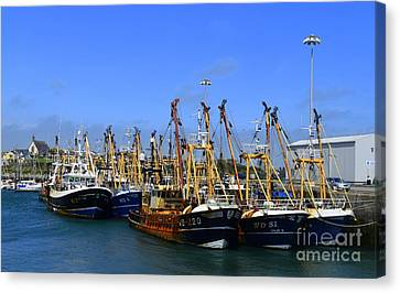 Tied Up At Kilmore Quay - Wexford Canvas Print