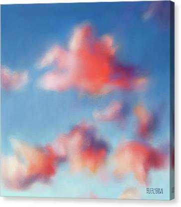 Tiepolo Clouds Canvas Print by Beverly Brown