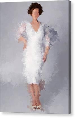 Canvas Print featuring the digital art Tiffany by Nancy Levan