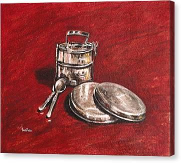 Tiffin Carrier - Still Life Canvas Print by Usha Shantharam