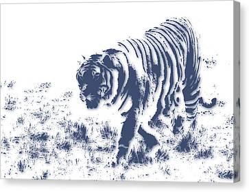 Growl Canvas Print - Tiger 3 by Joe Hamilton