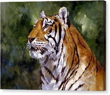 Tiger Alert Canvas Print by Silvia  Duran