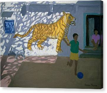 South Asia Canvas Print - Tiger by Andrew Macara