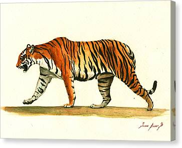 Tiger Animal  Canvas Print by Juan Bosco