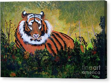 Tiger At Rest Canvas Print by Myrna Walsh