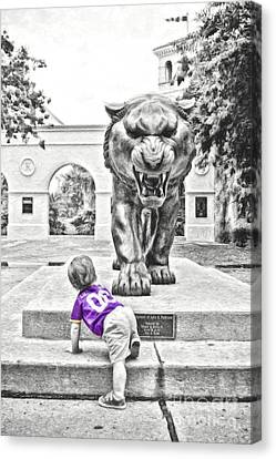 Mike The Tiger Canvas Print - Tiger Dreams Digital Painting - Selective Color by Scott Pellegrin