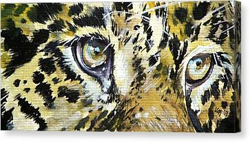 Canvas Print featuring the painting Tiger Eyes by Kovacs Anna Brigitta
