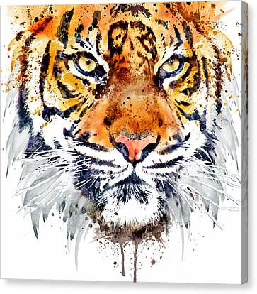 Tiger Face Close-up Canvas Print