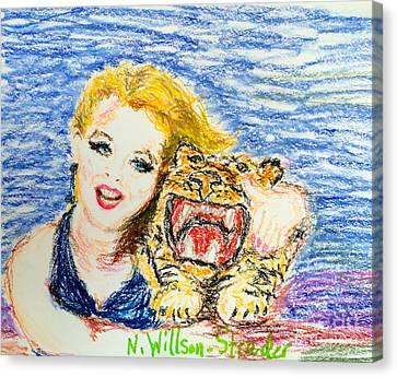 Tiger Hug Canvas Print