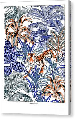 Tiger In It's Habitat Canvas Print by Jacqueline Colley