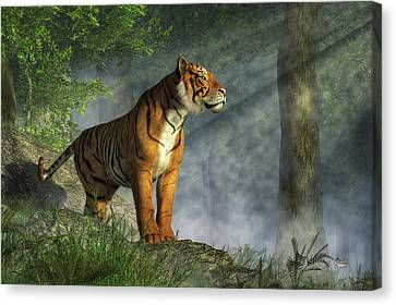 Tiger In The Light Canvas Print by Daniel Eskridge