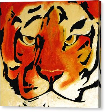 Tiger Canvas Print by Turtle Caps