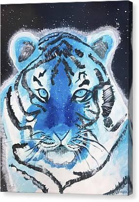 Monotone Canvas Print - Tiger by Lillianna Orkwis