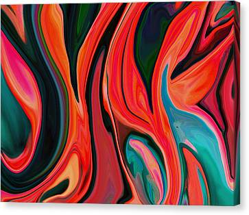 Tiger Lily Abstract Canvas Print by Linnea Tober