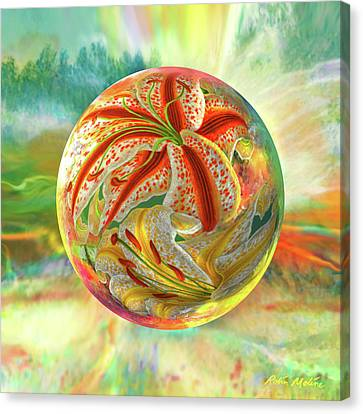 Canvas Print featuring the digital art Tiger Lily Dream by Robin Moline