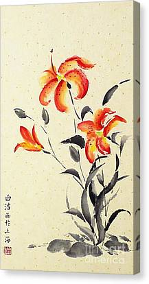 Tiger Lily - Red Canvas Print