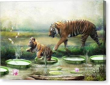 Tiger Lily Canvas Print by Trudi Simmonds