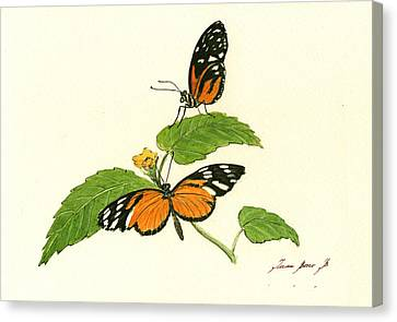 Tiger Longwing Heliconian Canvas Print by Juan Bosco