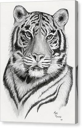 Tiger Canvas Print by Mary Rogers
