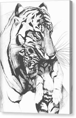 Tiger Mom Canvas Print