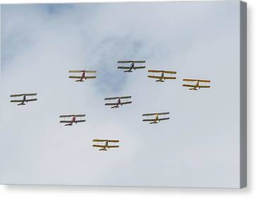 Canvas Print featuring the photograph Tiger Moth Formation by Gary Eason