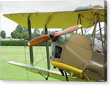 Canvas Print featuring the photograph Tiger Moth Propeller by Gary Eason