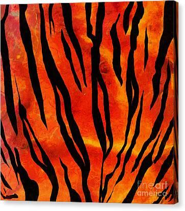 Tiger Pattern Square 2 Canvas Print by Edward Fielding