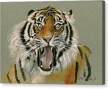 Tiger Portrait Canvas Print by Juan Bosco