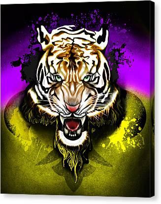 Tiger Rag Canvas Print by AC Williams