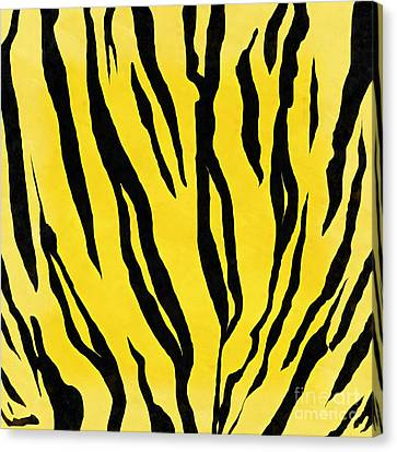 Tiger Skin Square Canvas Print by Edward Fielding
