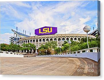 Canvas Print - Tiger Stadium - Hdr by Scott Pellegrin