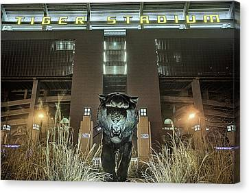 Tiger Stadium On Saturday Night Canvas Print by JC Findley