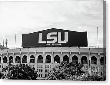 Canvas Print - Tiger Stadium Pov 2 Bw by Scott Pellegrin