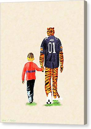 Character Study Canvas Print - Tiger Tales From Auburn by Mark Tisdale