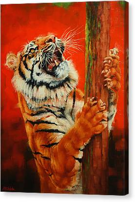 Tiger Tiger Burning Bright Canvas Print by Margaret Stockdale
