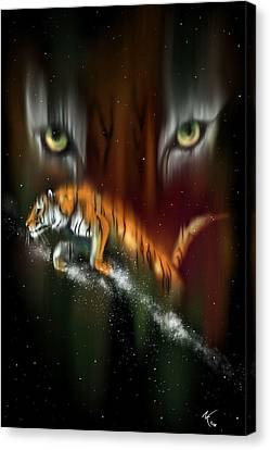 Tiger, Tiger Burning Bright Canvas Print